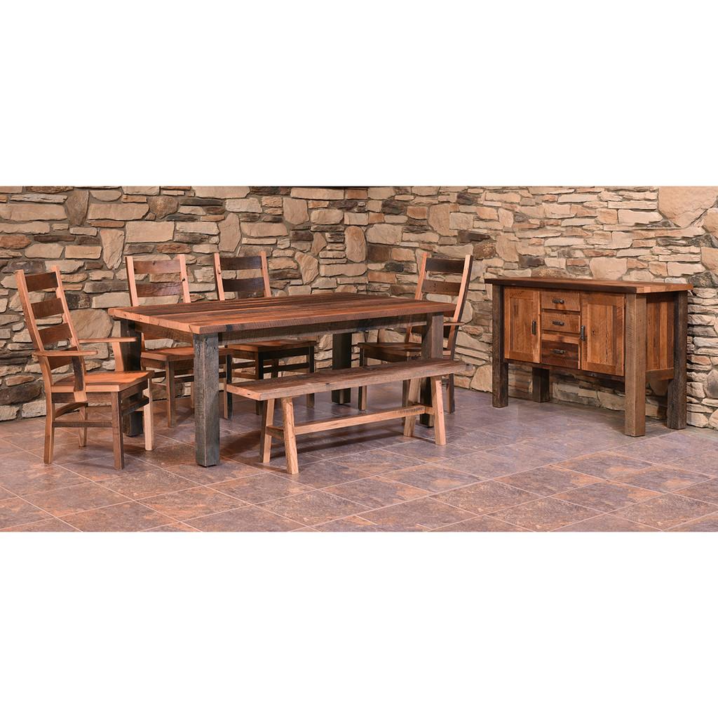 Almanzo Table (Barn Wood / Square Leg)