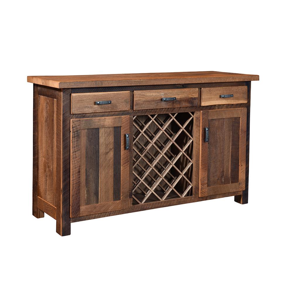 Almanzo Wine Cabinet (Barn Wood)