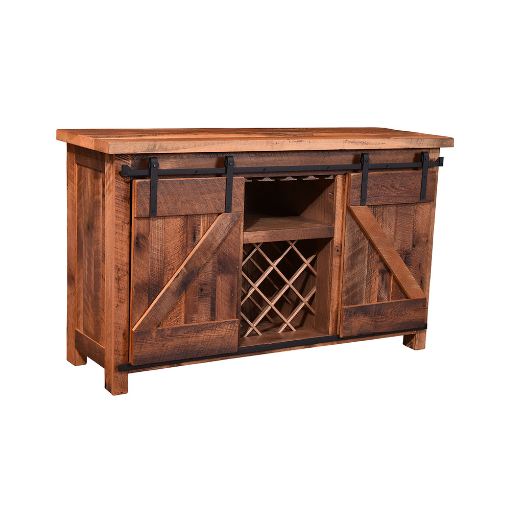 Almanzo Barn Door Wine Server (Barn Wood)