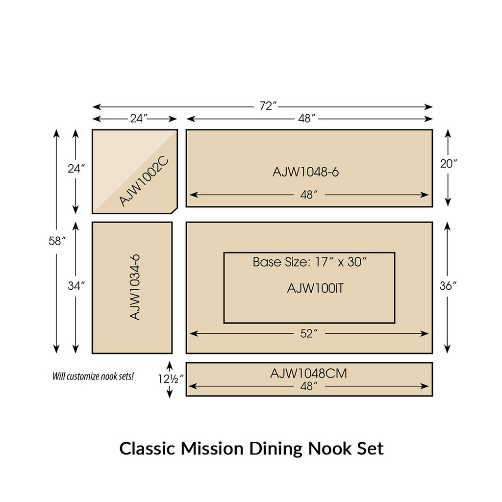 Classic Mission Dining Nook Set