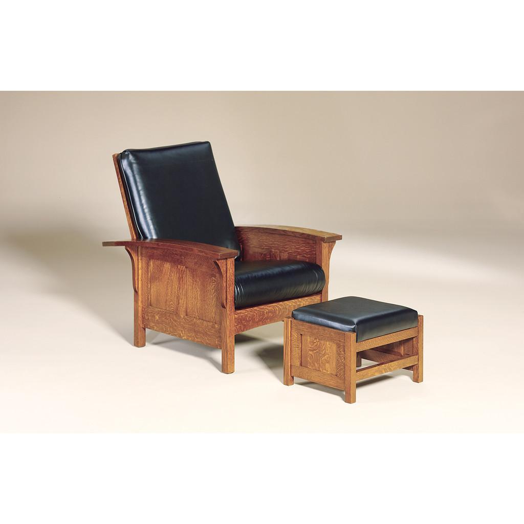 Bow Arm Panel Morris Footstool