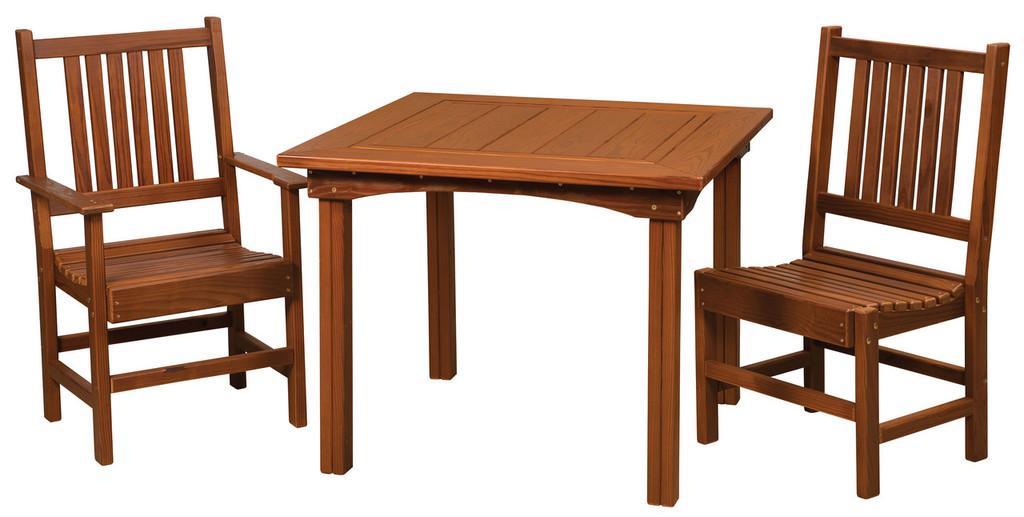 Cedar Square Dining Table & Chairs Set