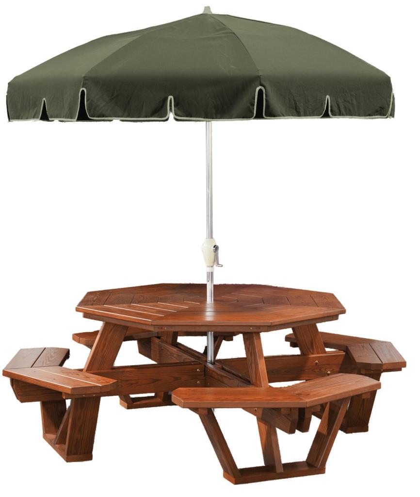 Cedar Octagon Picnic Table