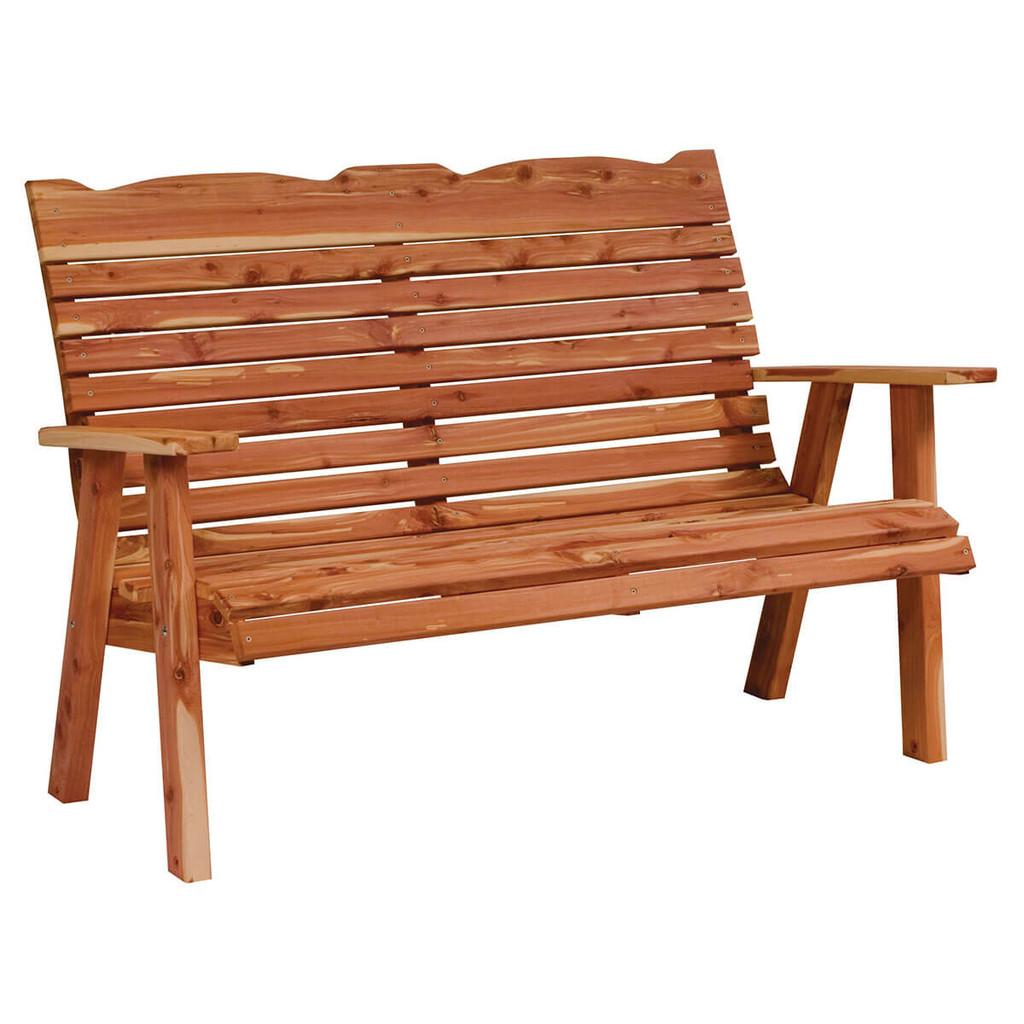 Cedar Straightback Loveseat Bench