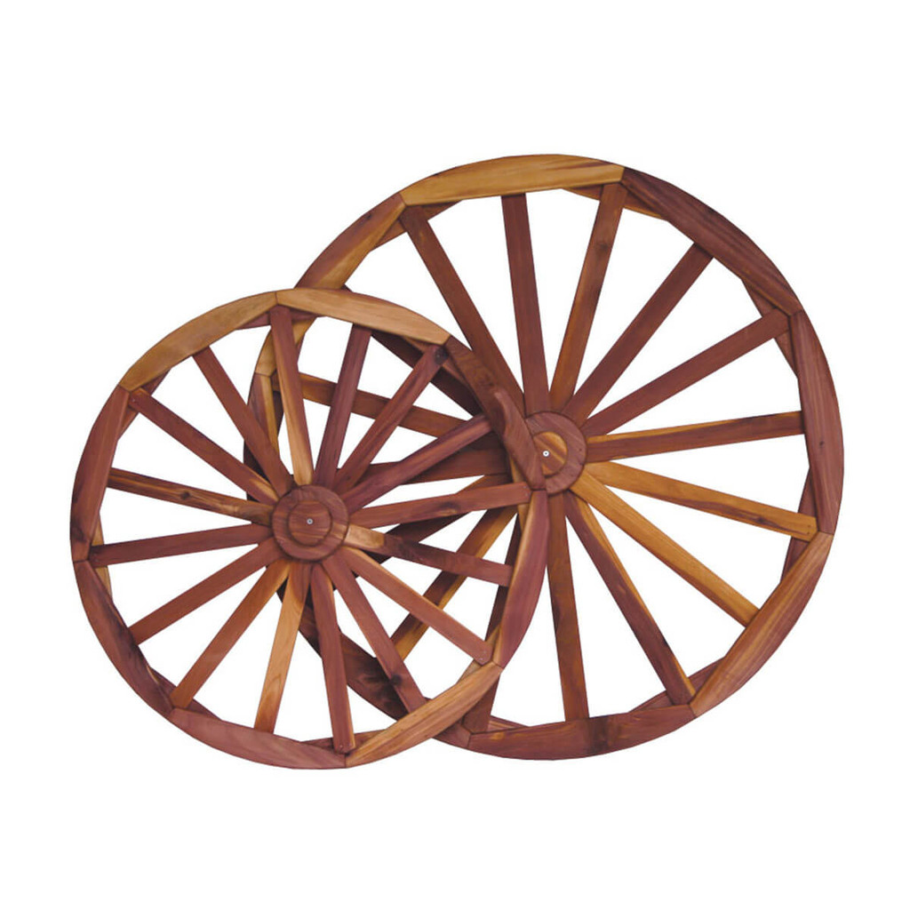 Cedar Decorative Wagon Wheel