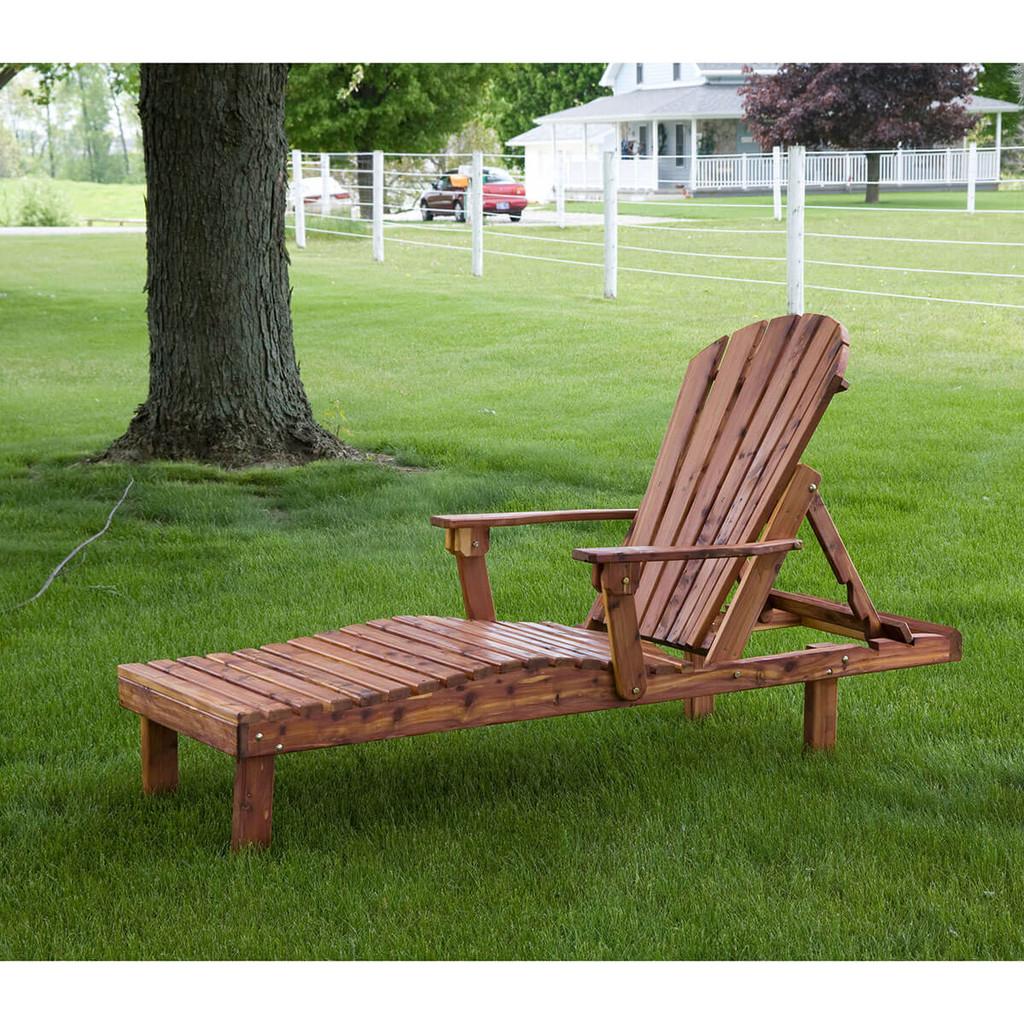 Cedar Adirondack Chaise Lounge