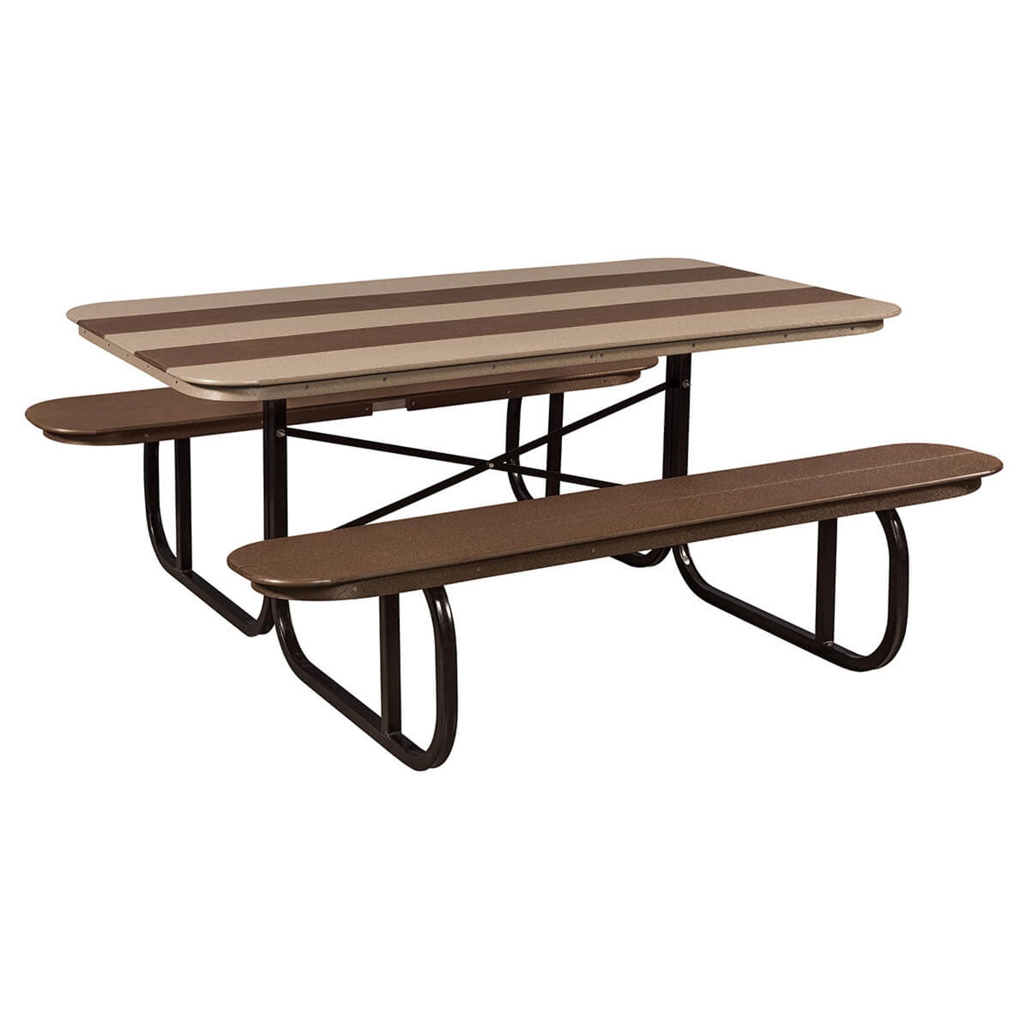 Picnic Table Poly With Metal Base Mattie Lu - Metal base picnic table
