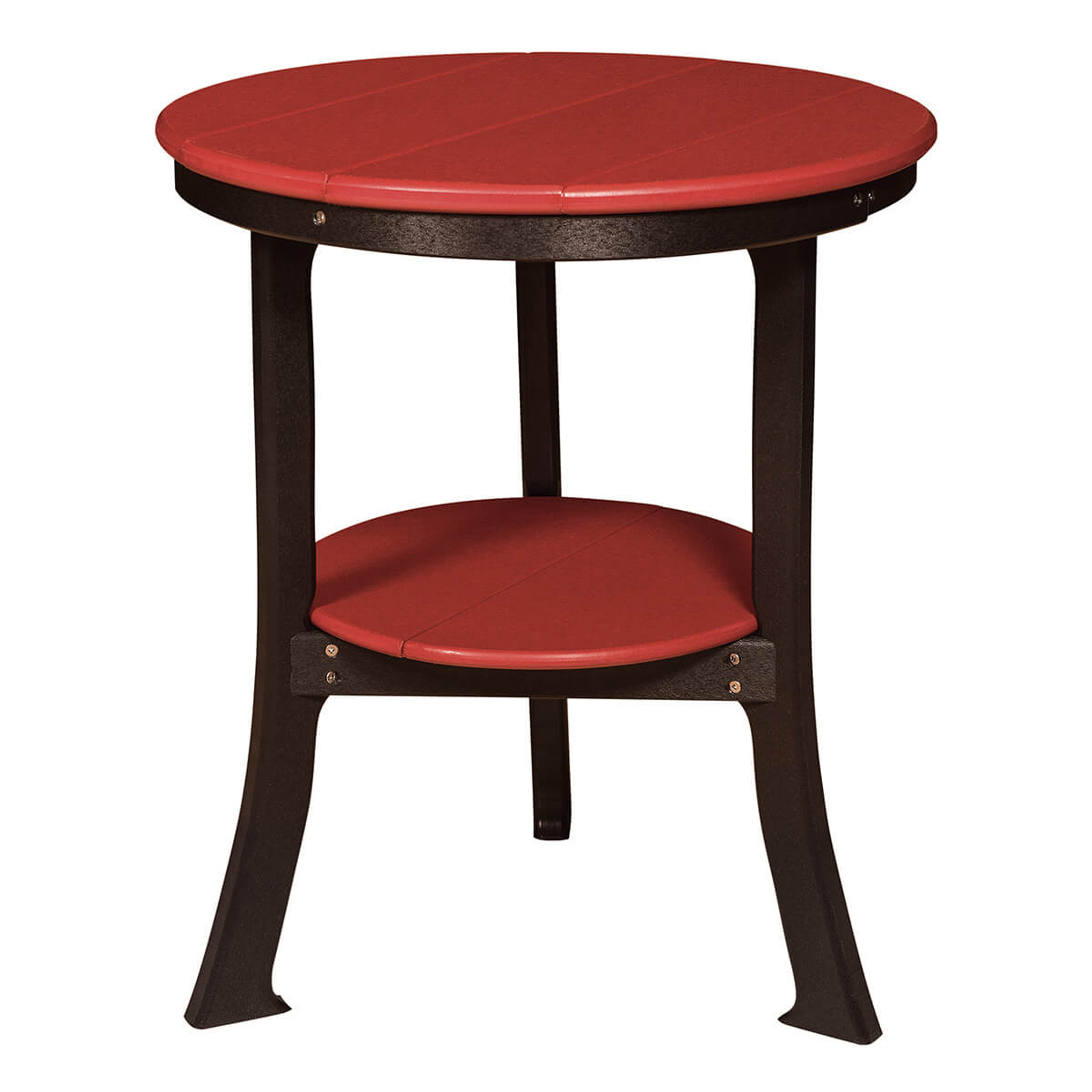 Polywood End Table Round Mattie Lu - Round end table with doors
