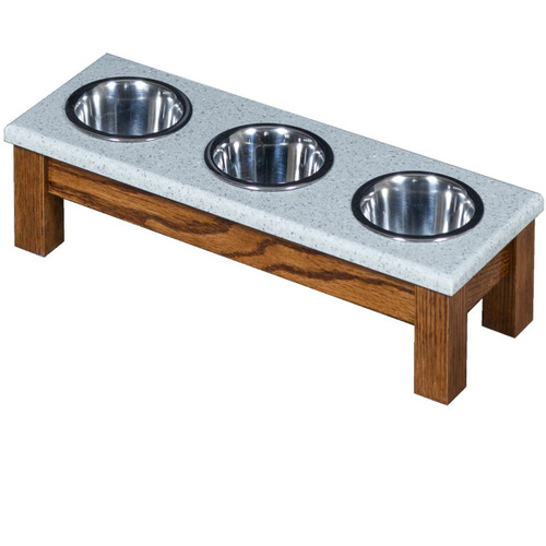 Small Triple Bowl Diner for Pets