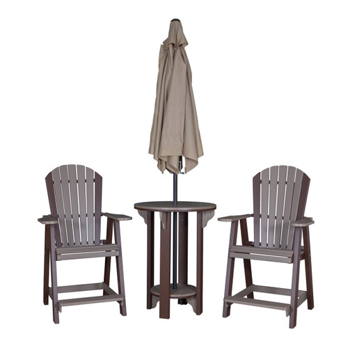 Round Pub Table & Balcony Chair Set (Poly)