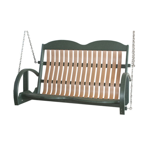 Classic Poly Bent Loveseat Swing