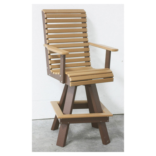 Outdoor Rollback Swivel Chair