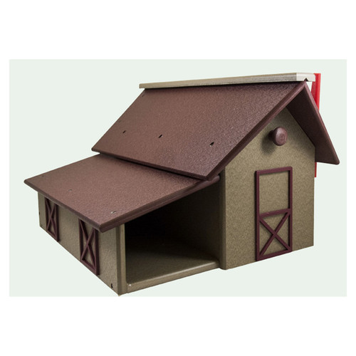 Barn Style Mailbox (with Paper Box)