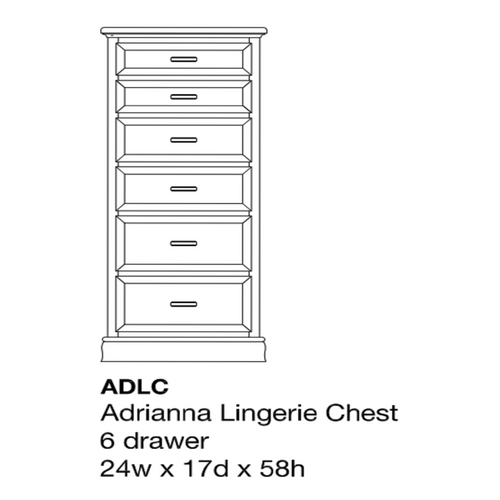 Adrianna Lingerie Chest