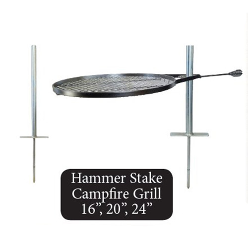 Hammer Stake Campfire Grill