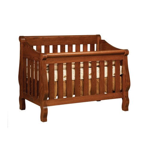 Hoosier Sleigh 3-in-1 Convertible Crib