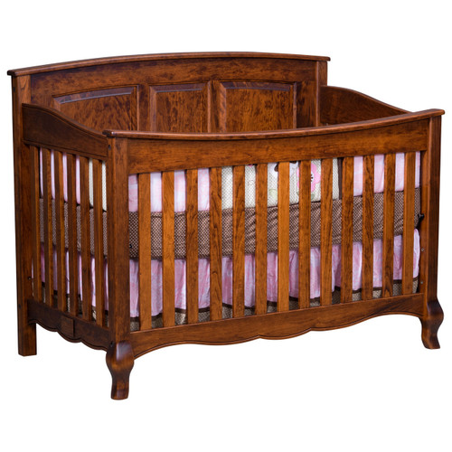 French Country 3-in-1 Convertible Crib (Slat Front)