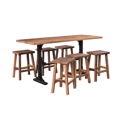 Bridgeport Bar Table (Barn Wood)