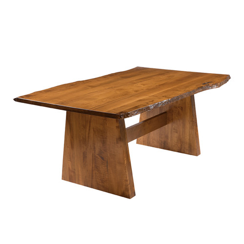 Bayport Trestle Table (Bookmatch Live Edge)