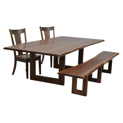 Kalispel Trestle Table (Bookmatch Live Edge)