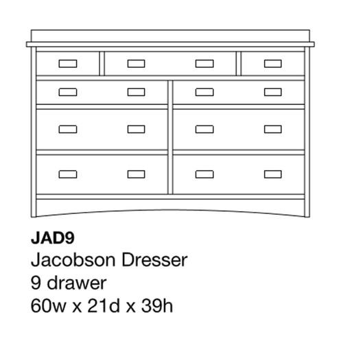 "Jacobson 60"" Dresser"