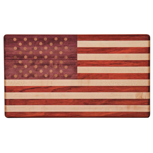 Exotic Woods Cutting Board (Flag)