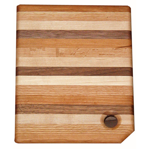 Multi-Wood Narrow Striped Cutting Board