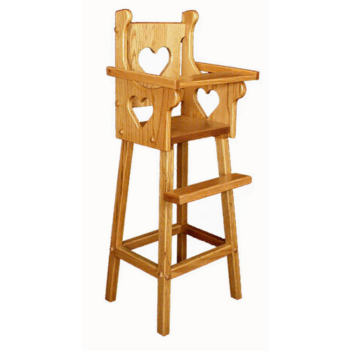 Doll High Chair (Heart)