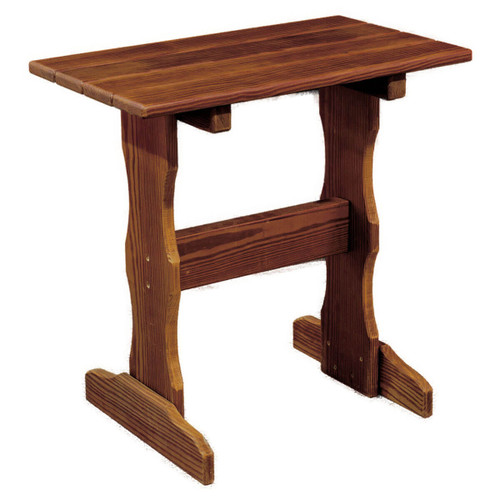 Tall Cedar End Table
