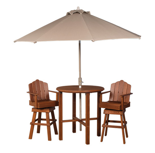 Cedar Bistro Table & Chairs Set
