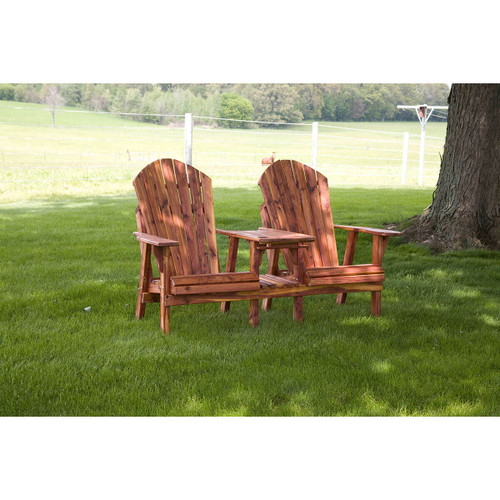 Cedar Adirondack Table & Chairs Set