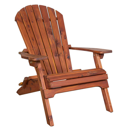 Classic Cedar Adirondack Folding Chair