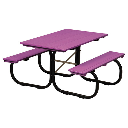 Kids Picnic Table (Poly with Metal Base)