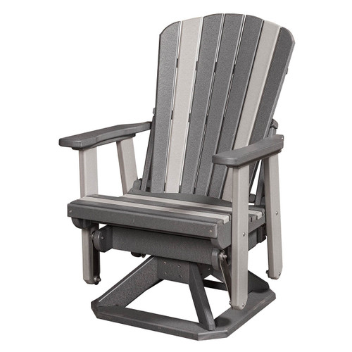 Polywood Fan Back Swivel Glider