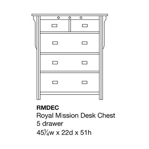 Royal Mission Desk Chest