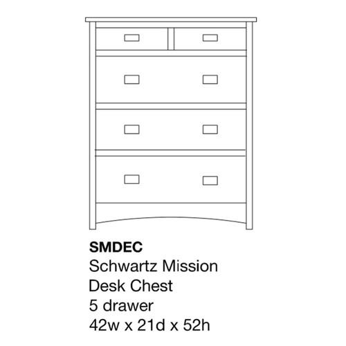 Schwartz Mission Desk Chest