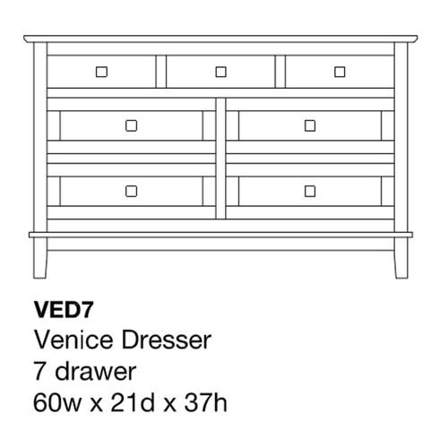 "Venice 60"" Dresser"