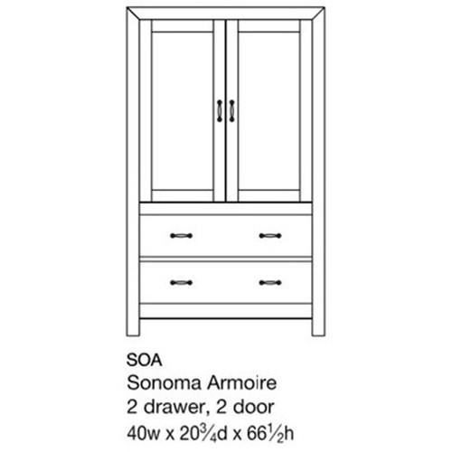 Sonoma Armoire