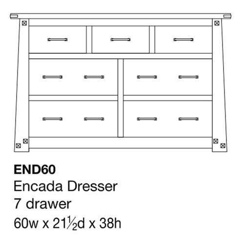 """Encada 60"""" Dresser"""