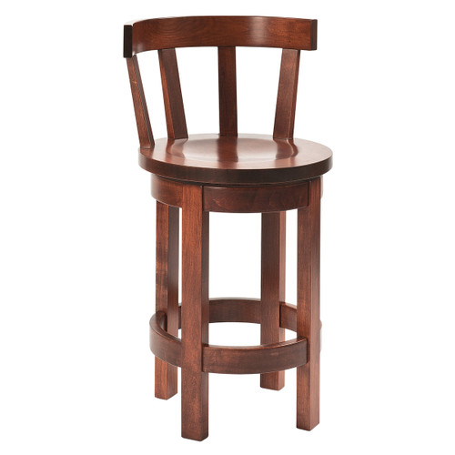 Barrel Swivel Bar Stool (Meribeth Top)