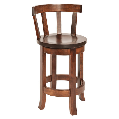 Belmont Swivel Bar Stool With Meribeth Top