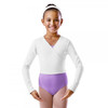 Bloch Long Sleeved Cotton X-Over Wrap Jr