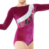 TAPPERS & POINTERS GYM/21 SMOOTH VELVET AND SOLARIS PRINT LEOTARD