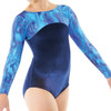 TAPPERS & POINTERS GYM/23 SMOOTH VELVET AND GALAXY PRINT LEOTARD
