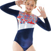 TAPPERS & POINTERS GYM/26 VELVET AND UNION FLAG PRINT LEOTARD