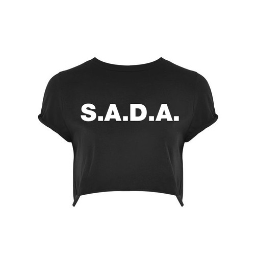 S.A.D.A BRANDED CROP TOP
