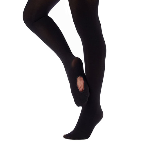 RUTH STEIN SCHOOL OF DANCE BLACK CONVERTIBLE TIGHTS