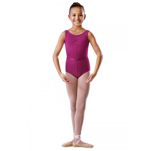 SONYA NICHOLS SCHOOL OF DANCE COTTON ROUCHE FRONT TANK LEOTARD