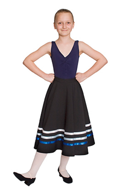 SONYA NICHOLS SCHOOL OF DANCE RAD CHARACTER SKIRT (BLUES & WHITE) GRADES 1 & 2