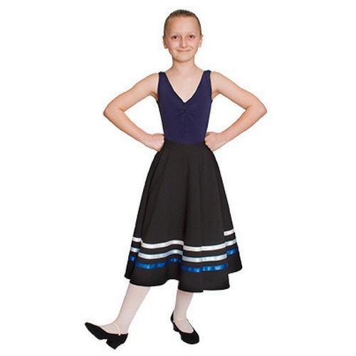 Sonya Nichols School of Dance RAD Character Skirt (Blues & White) Grades 1 & 2